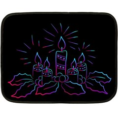 Advent Wreath Candles Advent Double Sided Fleece Blanket (mini)