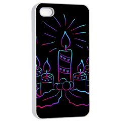 Advent Wreath Candles Advent Apple Iphone 4/4s Seamless Case (white)