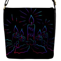 Advent Wreath Candles Advent Flap Messenger Bag (s)