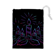Advent Wreath Candles Advent Drawstring Pouches (large)