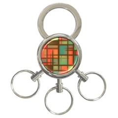 Background Abstract Colorful 3 Ring Key Chains