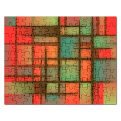Background Abstract Colorful Rectangular Jigsaw Puzzl