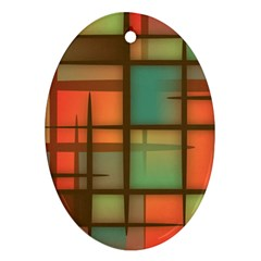 Background Abstract Colorful Oval Ornament (two Sides)