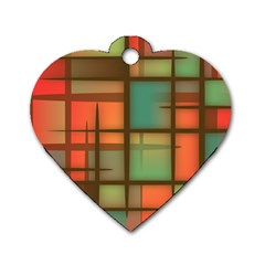 Background Abstract Colorful Dog Tag Heart (two Sides)