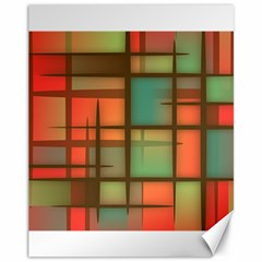 Background Abstract Colorful Canvas 11  X 14