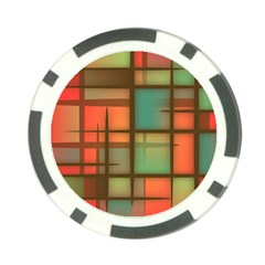 Background Abstract Colorful Poker Chip Card Guard