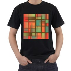 Background Abstract Colorful Men s T Shirt (black)