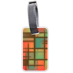 Background Abstract Colorful Luggage Tags (two Sides)