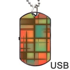 Background Abstract Colorful Dog Tag Usb Flash (one Side)