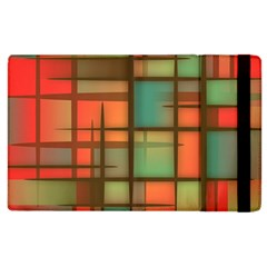 Background Abstract Colorful Apple Ipad 2 Flip Case