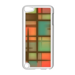 Background Abstract Colorful Apple Ipod Touch 5 Case (white)