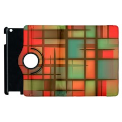 Background Abstract Colorful Apple Ipad 2 Flip 360 Case