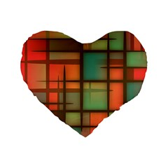 Background Abstract Colorful Standard 16  Premium Heart Shape Cushions