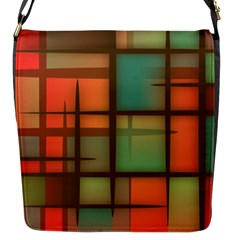 Background Abstract Colorful Flap Messenger Bag (s)