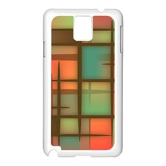 Background Abstract Colorful Samsung Galaxy Note 3 N9005 Case (white)