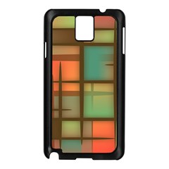 Background Abstract Colorful Samsung Galaxy Note 3 N9005 Case (black)