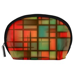 Background Abstract Colorful Accessory Pouches (large)