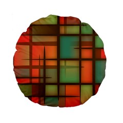Background Abstract Colorful Standard 15  Premium Flano Round Cushions