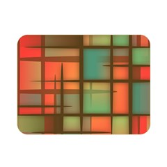 Background Abstract Colorful Double Sided Flano Blanket (mini)