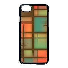 Background Abstract Colorful Apple Iphone 7 Seamless Case (black)