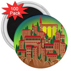 Mountain Village Mountain Village 3  Magnets (100 Pack)