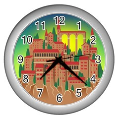 Mountain Village Mountain Village Wall Clocks (silver)