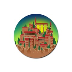Mountain Village Mountain Village Rubber Round Coaster (4 Pack)