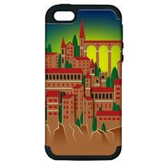 Mountain Village Mountain Village Apple Iphone 5 Hardshell Case (pc+silicone)