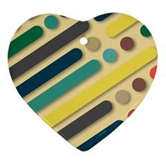 Background Vintage Desktop Color Heart Ornament (two Sides)