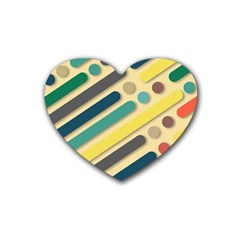 Background Vintage Desktop Color Heart Coaster (4 Pack)