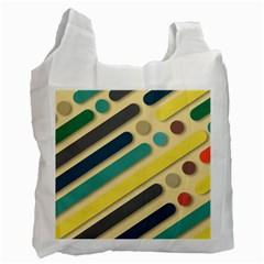 Background Vintage Desktop Color Recycle Bag (two Side)