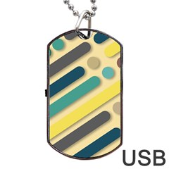 Background Vintage Desktop Color Dog Tag Usb Flash (one Side)