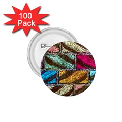 Colorful Painted Bricks Street Art Kits Art 1 75  Buttons (100 Pack)