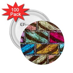 Colorful Painted Bricks Street Art Kits Art 2 25  Buttons (100 Pack)