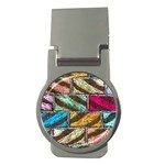 Colorful Painted Bricks Street Art Kits Art Money Clips (Round)  Front