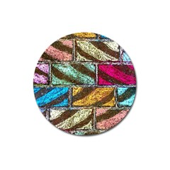 Colorful Painted Bricks Street Art Kits Art Magnet 3  (round)