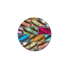 Colorful Painted Bricks Street Art Kits Art Golf Ball Marker (10 Pack)