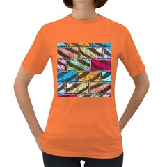 Colorful Painted Bricks Street Art Kits Art Women s Dark T Shirt