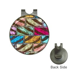 Colorful Painted Bricks Street Art Kits Art Hat Clips With Golf Markers