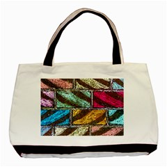 Colorful Painted Bricks Street Art Kits Art Basic Tote Bag (two Sides)