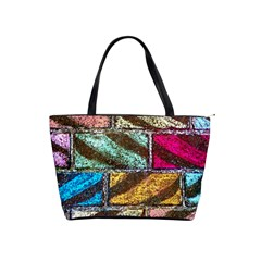 Colorful Painted Bricks Street Art Kits Art Shoulder Handbags