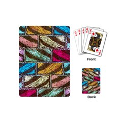 Colorful Painted Bricks Street Art Kits Art Playing Cards (mini)