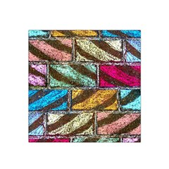 Colorful Painted Bricks Street Art Kits Art Satin Bandana Scarf