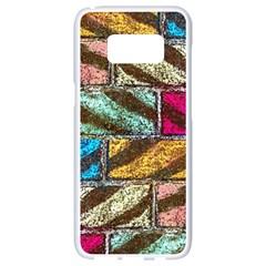 Colorful Painted Bricks Street Art Kits Art Samsung Galaxy S8 White Seamless Case