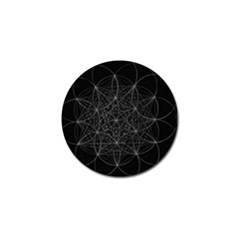 Sacred Geometry Music 144links Golf Ball Marker