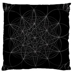 Sacred Geometry Music 144links Large Cushion Case (two Sides)