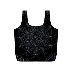 Sacred Geometry Music 144links Full Print Recycle Bags (s)