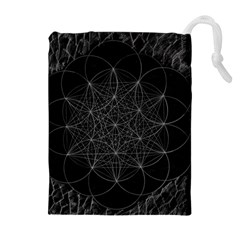 Sacred Geometry Music 144links Drawstring Pouches (extra Large)