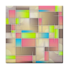 Background Abstract Grid Tile Coasters