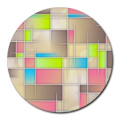 Background Abstract Grid Round Mousepads